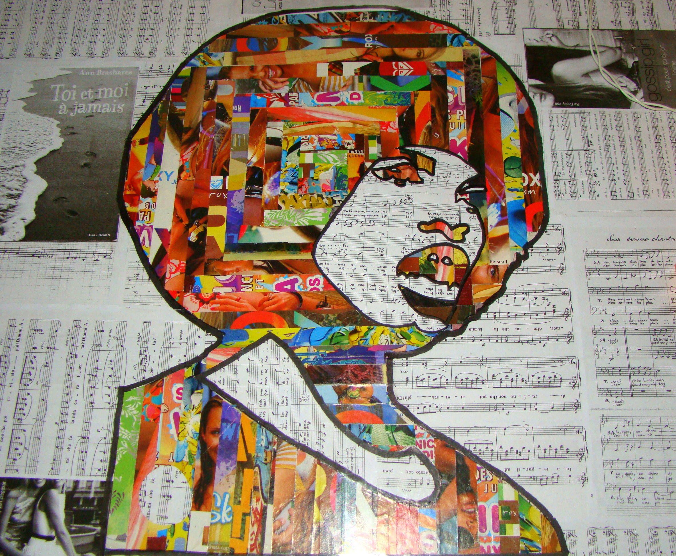Angela en collage