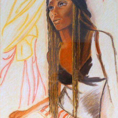 Pastel Sec Reproduction  : Titouan lamazou - Femme du monde