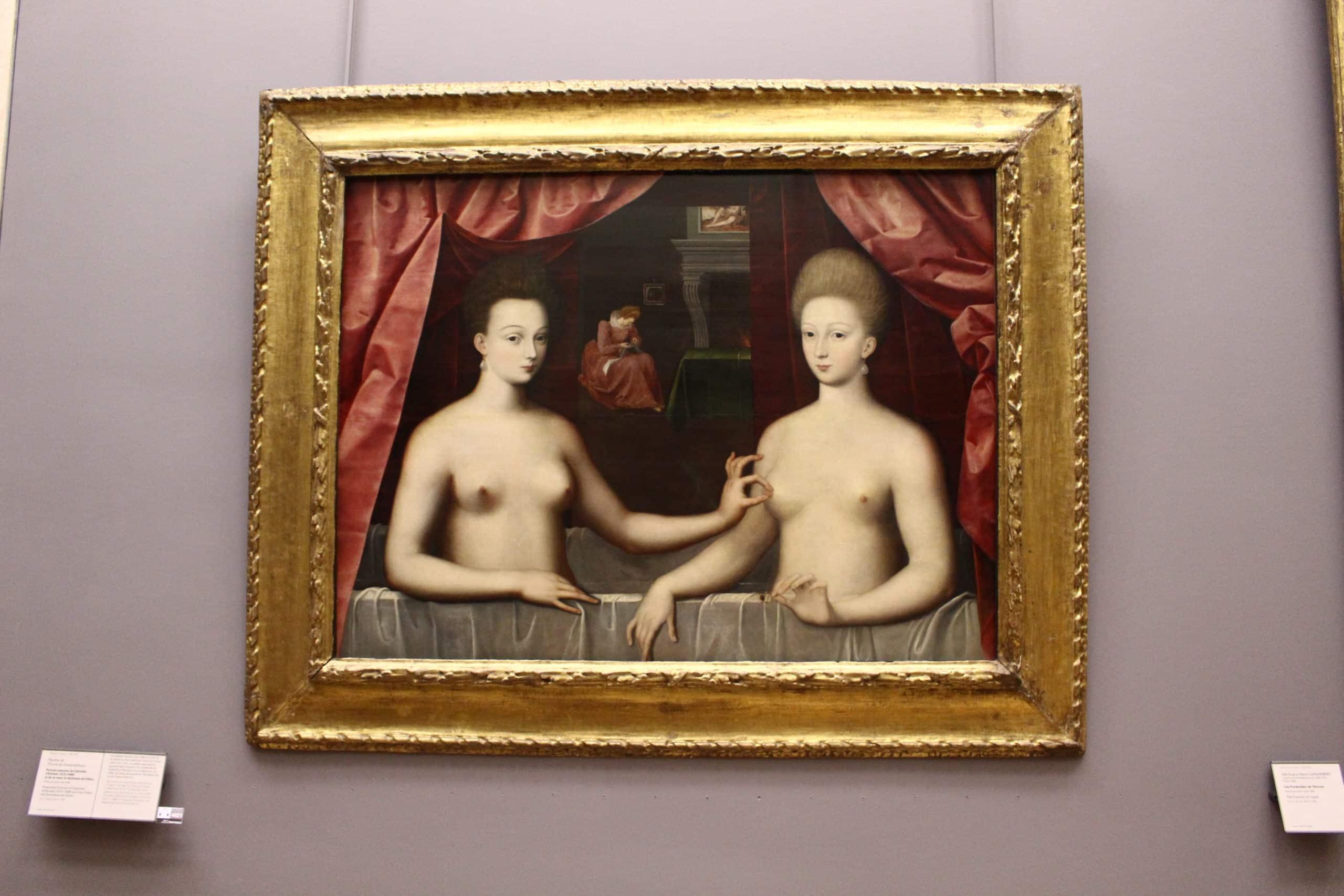Portrait présumé de Gabrielle d'Estrées et de sa soeœur la duchesse de Villars